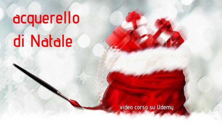 acquerello di Natale