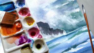 mare ad acquerello